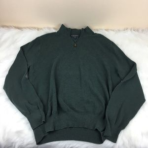 Brooks Brothers Zip Cotton Cashmere Pullover Sz XL
